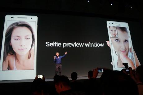 """Med """"Selfie preview windows"""" og Ascend G6 laver du bedre selvportrætter, lover Huawei."""