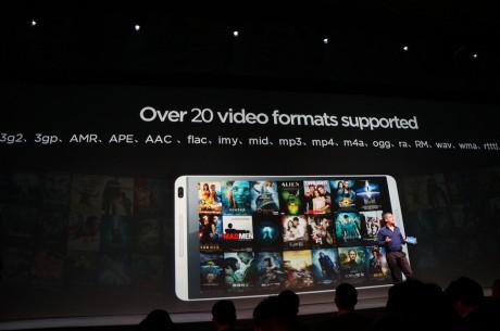 MediaPad M1 understøtter over 20 forskellige videoformater fra fødslen, siger Huawei.