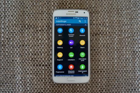 Samsung gjort endringer i brukergrensesnitet, der for eksempel innstillingene har blitt mer oversiktlige.