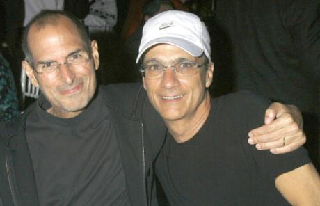 Jimmy Iovine med Steve Jobs.