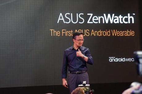 Mitch Yang, Design Vice President hos ASUS, præsenterer ZenWatch på IFA 2014.