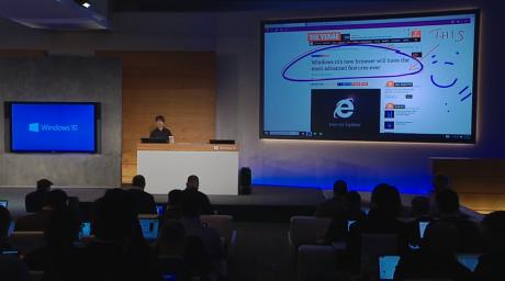 """Microsoft arbejder på en ny internetbrowser til Windows 10. Den går i øjeblikket under kodenavnet """"Project Spartan"""" og skal afløse Internet Explorer."""