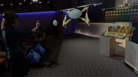 Her skabes en 3D-model af en quadcopter i Holo Studio.