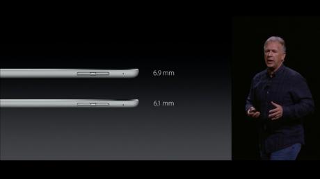 Med sine 6,9 mm er iPad Pro en smule tykkere enn iPad Air 2. Foto: Apple