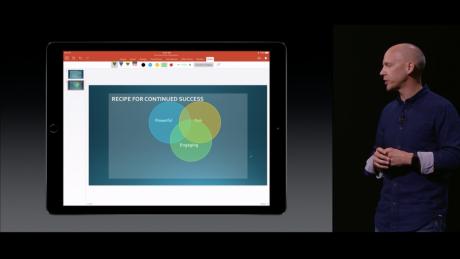 Microsoft på scenen under en Apple-lansering? Utrolig men sant! Foto: Apple