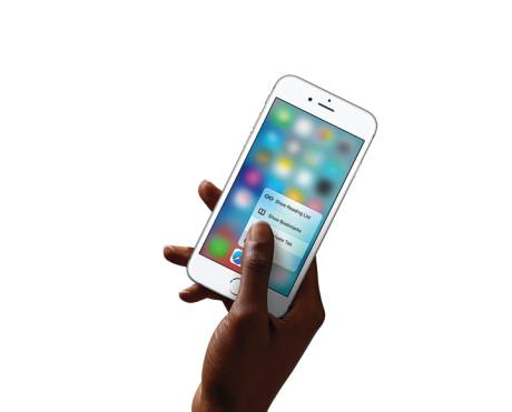 3D Touch virker også direkte fra hjemmeskærmen. Og ikke kun med Apples egne apps. Foto: Apple