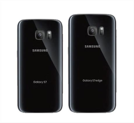 Der er glas på både for- og bagside af Galaxy S7 og S7 edge. Foto: Samsung / @evleaks