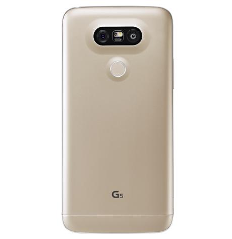 Det sitter to kameralinser på baksiden av LG G5. En vanlig på 16 MP, og en 135 graders vidvinkel-linse på 8 MP. Foto: LG