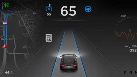 Tesla Model S kan med en opdatering gøres delvist selvkørende. Foto: Tesla Motors