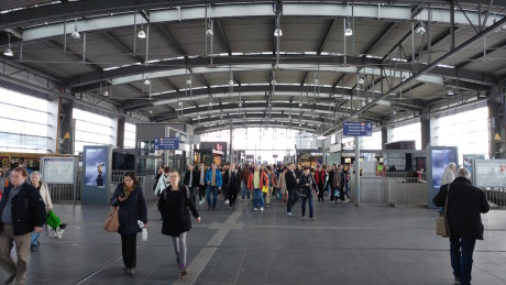 Her har vi fotograferet en banegård i Berlin med standardlinsen på 16 MP. Foto: Peter Gotschalk, Lyd & Billede