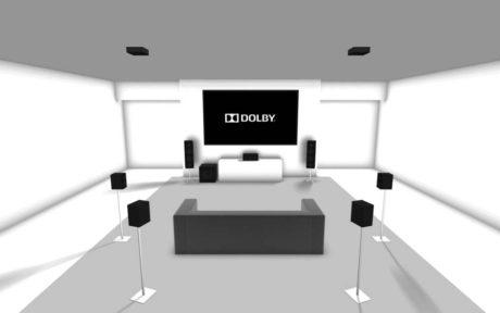 Med Dolby Atmos får man også lyd fra loftet.