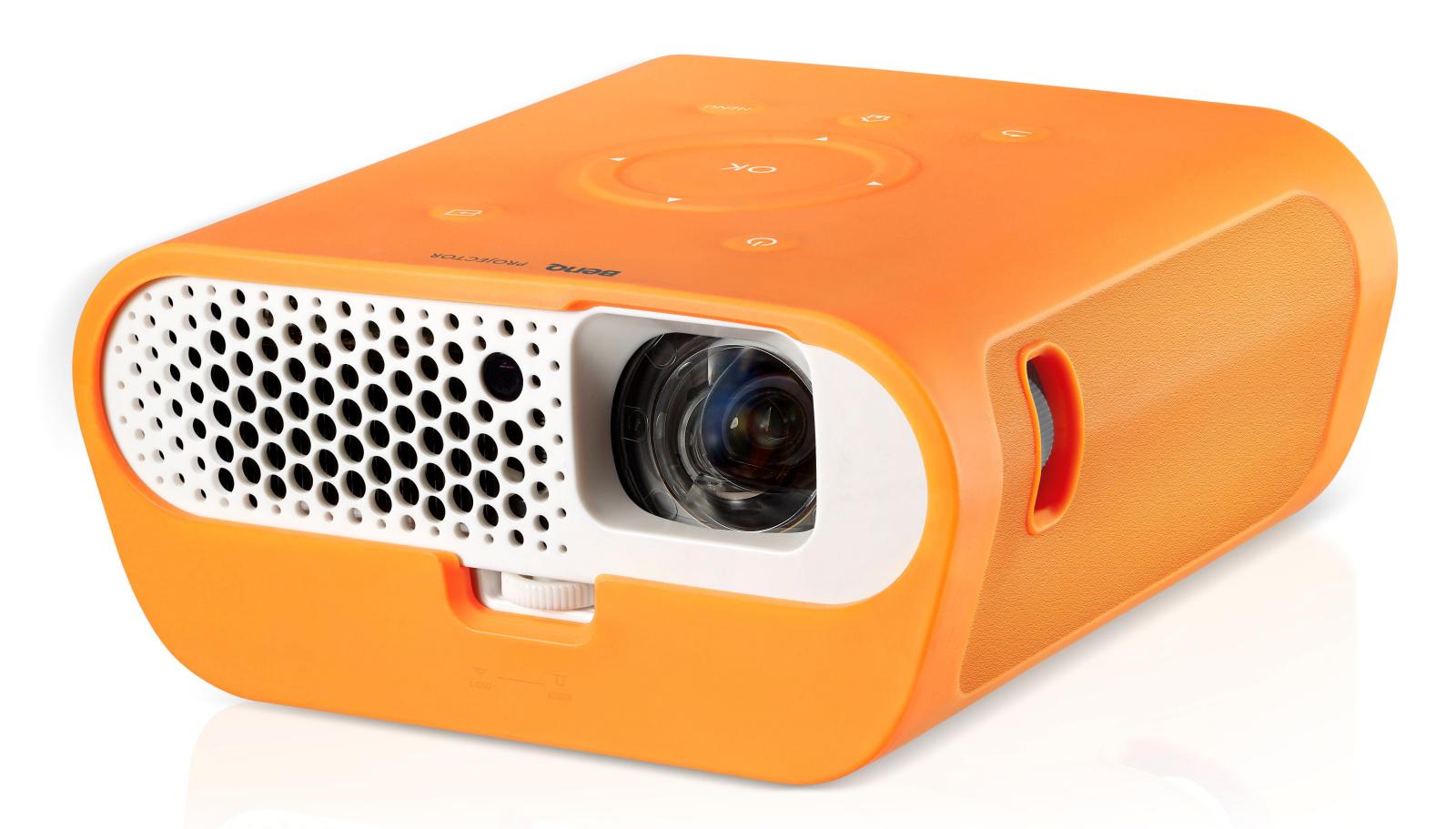 Med det medfølgende gummiovertræk bliver projektoren stænktæt. Foto: BenQ