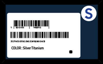 Sådan ser etiketten på de fejlsikrede Samsung Galaxy Note 7 angiveligt ud.