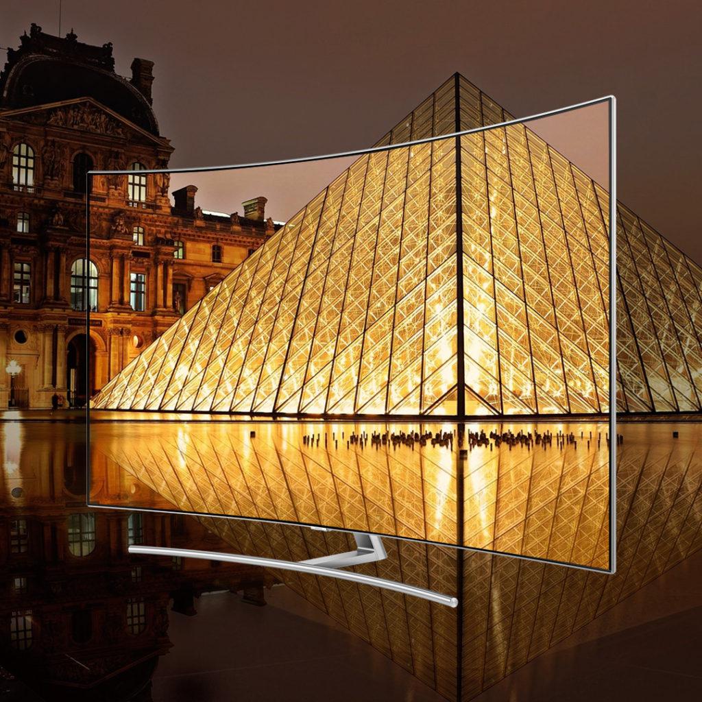 Samsung valde Paris som ramverk för sin lansering av årets QLED-TV. Foto: Samsung