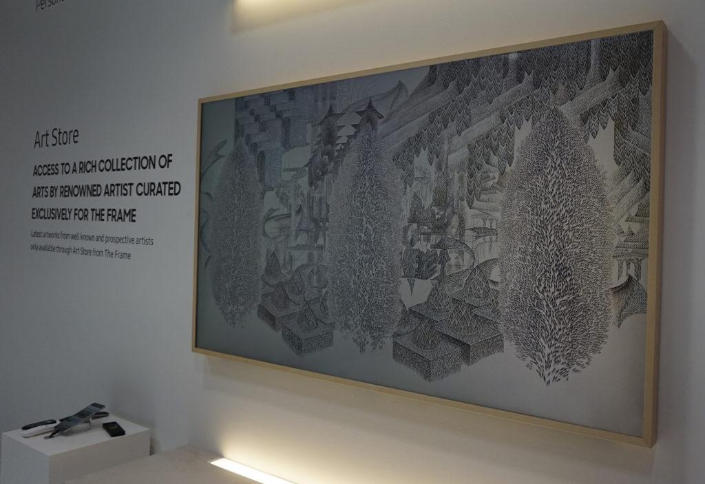 The Frame liknar ett grafiskt tryck i en tavelram. Foto: John Alex Hvidlykke, L&B