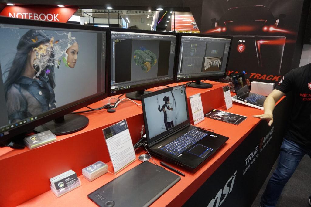 MSi har grafikdatorer som passar till annat än spel. VT73VR är gjord för professionella 3D-designer. Foto: John Alex Hvidlykke, L&B