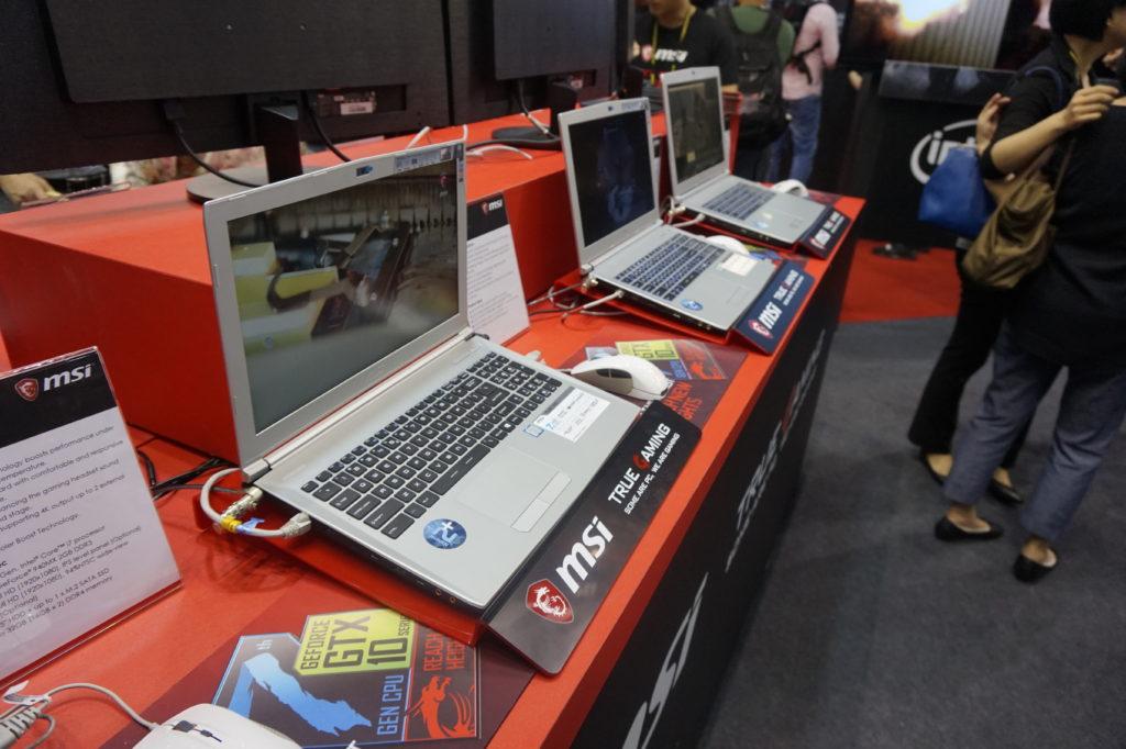 """MSi gör även """"civila"""" PC-datorer som är tillräckligt diskreta för att passa på kontoret. Fast med Full HD-skärm och GeForce GTX 1050-grafik fixar de ett 3D-spel på lunchen också! Foto: John Alex Hvidlykke, L&B"""