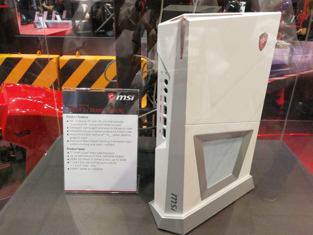 """Trident 3 är MSi:s """"spelkonsol-killer"""", en kompakt PC med desktop-muskler och GeForce GTX 1070-kort. Foto: John Alex Hvidlykke, L&B"""