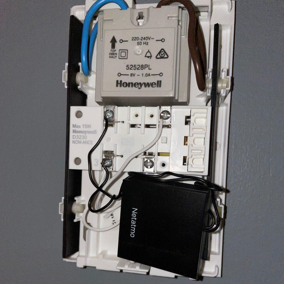 Netatmo transformer install