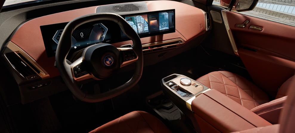 BMW IX front interior