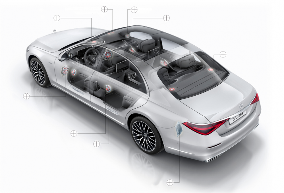 Mercedes S-class Burmester 3D
