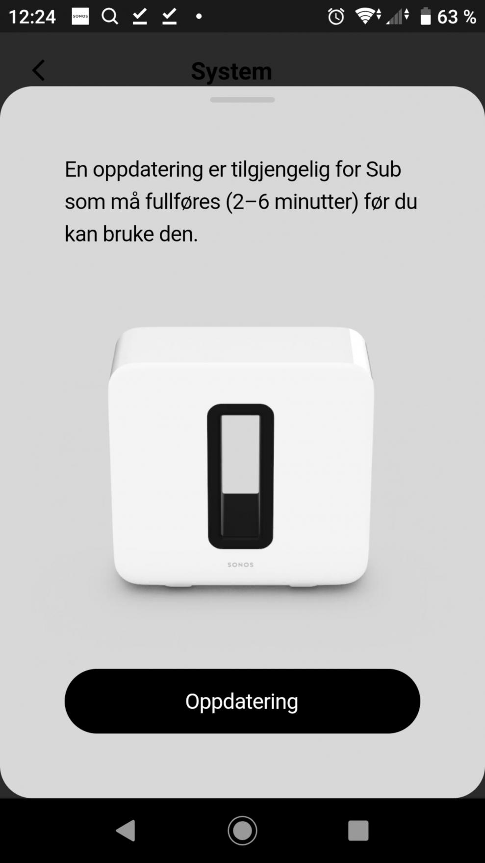 Sonos Sub setup 10