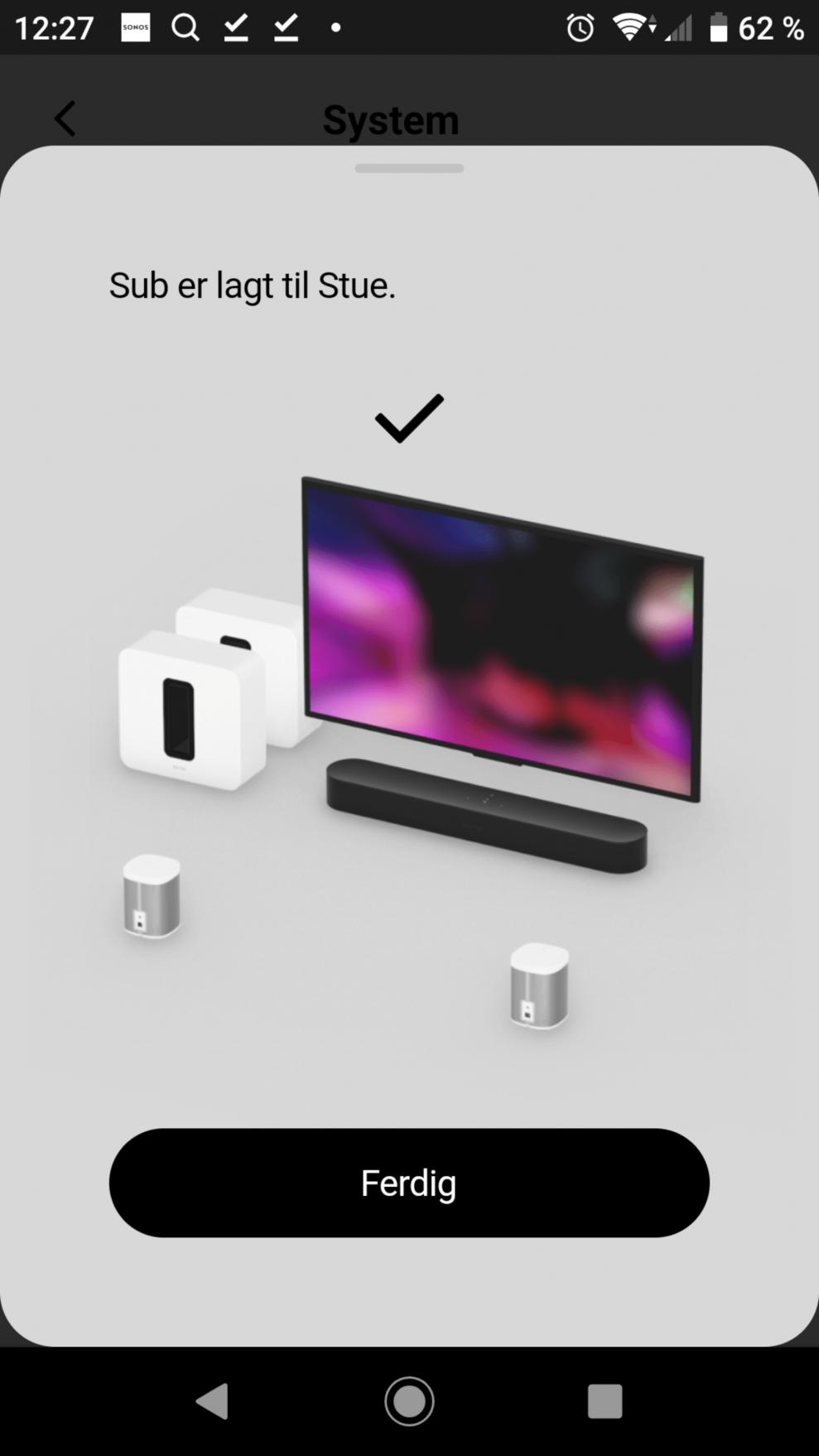 Sonos Sub setup 13