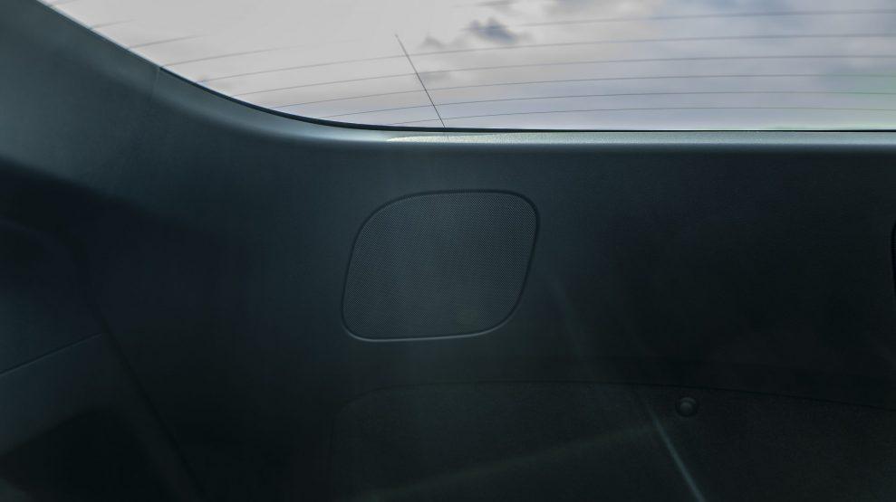 Tesla Model Y right speaker hatch